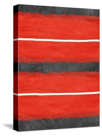 Grey and Red Abstract 3-NaxArt-Stretched Canvas Print