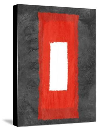 Grey and Red Abstract 4-NaxArt-Stretched Canvas Print
