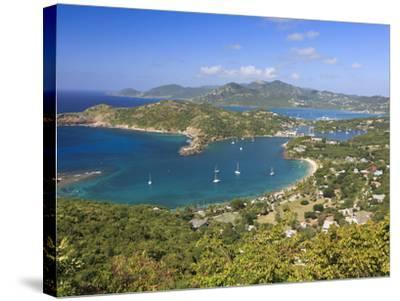 Caribbean, Antigua and Barbuda, English Harbour from Shirley's Heights-Michele Falzone-Stretched Canvas Print