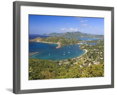 Caribbean, Antigua and Barbuda, English Harbour from Shirley's Heights-Michele Falzone-Framed Photographic Print
