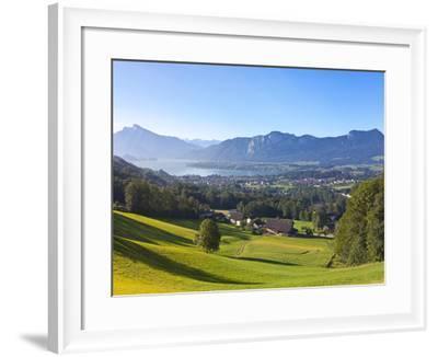 Alpine Meadow, Mondsee, Mondsee Lake, Oberosterreich, Upper Austria, Austria-Doug Pearson-Framed Photographic Print