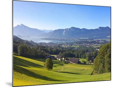 Alpine Meadow, Mondsee, Mondsee Lake, Oberosterreich, Upper Austria, Austria-Doug Pearson-Mounted Photographic Print