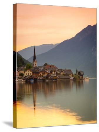 Hallstatt, Hallstattersee, Oberosterreich, Upper Austria, Austria-Doug Pearson-Stretched Canvas Print