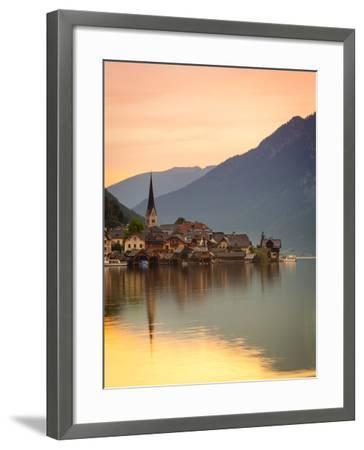 Hallstatt, Hallstattersee, Oberosterreich, Upper Austria, Austria-Doug Pearson-Framed Photographic Print