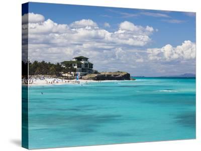 Cuba, Matanzas Province, Varadero, Varadero Beach by the Mansion Xanadu-Walter Bibikow-Stretched Canvas Print