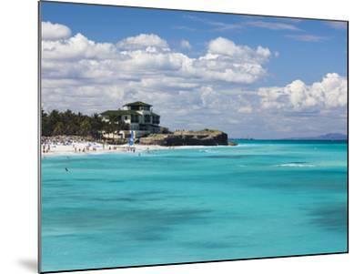 Cuba, Matanzas Province, Varadero, Varadero Beach by the Mansion Xanadu-Walter Bibikow-Mounted Photographic Print