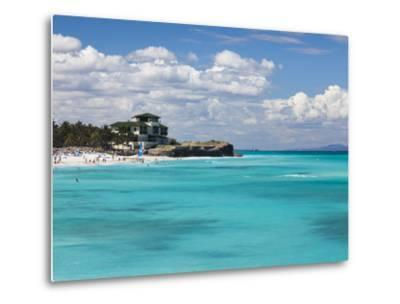 Cuba, Matanzas Province, Varadero, Varadero Beach by the Mansion Xanadu-Walter Bibikow-Metal Print