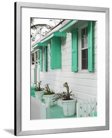 Bahamas, Eleuthera Island, Harbour Island, Dunmore Town, House Detail-Walter Bibikow-Framed Photographic Print