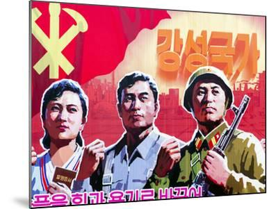 North Korea, Pyongyang, Propaganda Poster-Gavin Hellier-Mounted Photographic Print