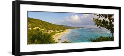 Elevated View over Long Bay at Sunrise, Portland Parish, Jamaica, Caribbean-Doug Pearson-Framed Photographic Print