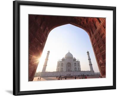 India, Uttar Pradesh, Agra, Taj Mahal (UNESCO Site)-Michele Falzone-Framed Photographic Print