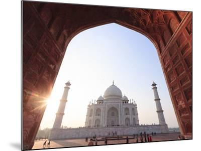 India, Uttar Pradesh, Agra, Taj Mahal (UNESCO Site)-Michele Falzone-Mounted Photographic Print