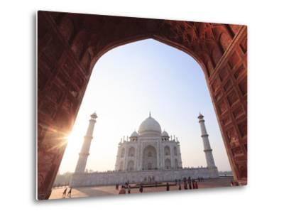 India, Uttar Pradesh, Agra, Taj Mahal (UNESCO Site)-Michele Falzone-Metal Print