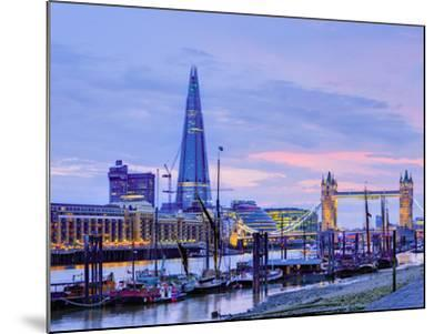 UK, England, London, River Thames, the Shard and Tower Bridge-Alan Copson-Mounted Photographic Print