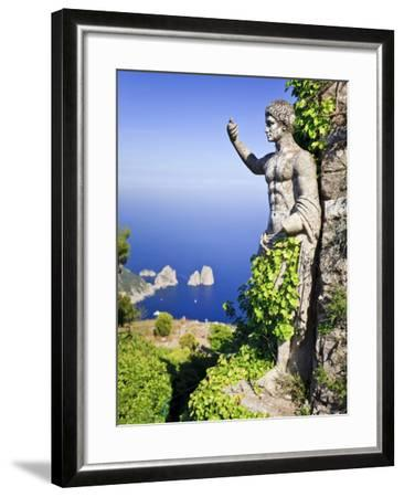 Italy, Campania, Napoli District, Anacapri, Solaro Mount, the Statue of Emperor Augustus, View from-Francesco Iacobelli-Framed Photographic Print