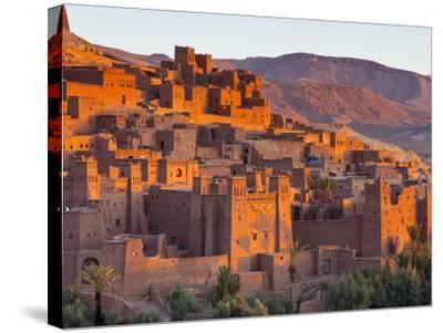 Sunrise over Ait Benhaddou, Atlas Mountains, Morocco-Doug Pearson-Stretched Canvas Print