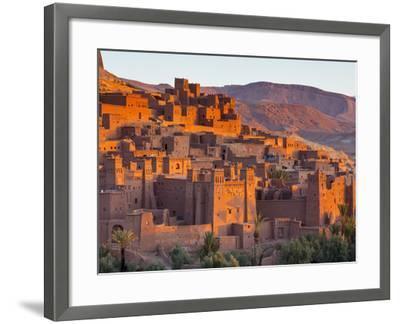 Sunrise over Ait Benhaddou, Atlas Mountains, Morocco-Doug Pearson-Framed Photographic Print