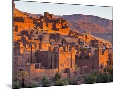 Sunrise over Ait Benhaddou, Atlas Mountains, Morocco-Doug Pearson-Mounted Photographic Print