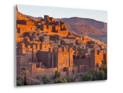 Sunrise over Ait Benhaddou, Atlas Mountains, Morocco-Doug Pearson-Metal Print