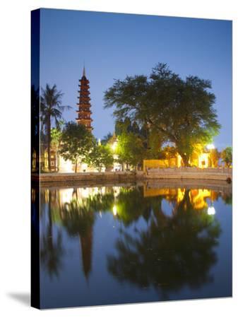 Tran Quoc Pagoda, West Lake (Ho Tay), Hanoi, Vietnam-Jon Arnold-Stretched Canvas Print