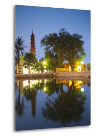 Tran Quoc Pagoda, West Lake (Ho Tay), Hanoi, Vietnam-Jon Arnold-Metal Print