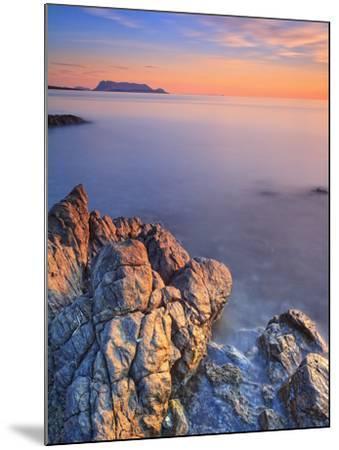 Italy, Sardinia, Olbia-Tempio District, Budoni, Coastline and Tavolara Island-Francesco Iacobelli-Mounted Photographic Print