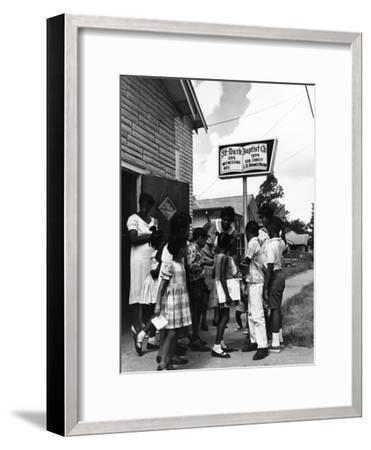 Barbara Jordan - 1967-Bill Gillohm-Framed Photographic Print