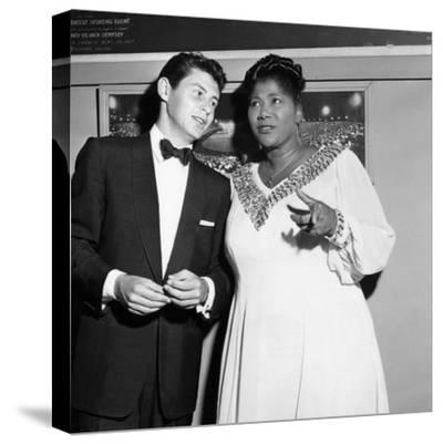 Mahalia Jackson, Eddie Fisher - 1955-Isaac Sutton-Stretched Canvas Print