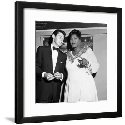 Mahalia Jackson, Eddie Fisher - 1955-Isaac Sutton-Framed Photographic Print