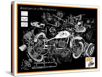 Anatomy of a Motorcycle-James Bentley-Stretched Canvas Print