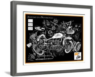 Anatomy of a Motorcycle-James Bentley-Framed Giclee Print