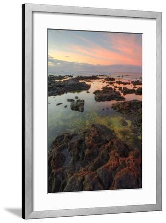 Sunrise Lava Pools at Poipu-Vincent James-Framed Photographic Print