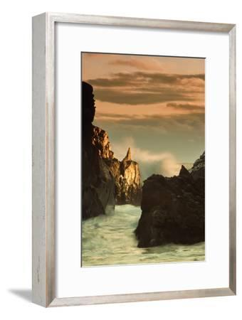 Light Splash at Big Sur-Vincent James-Framed Photographic Print
