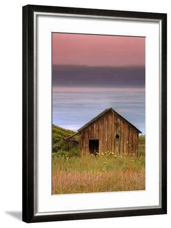 Sea Shack and Watermelon Sky-Vincent James-Framed Photographic Print