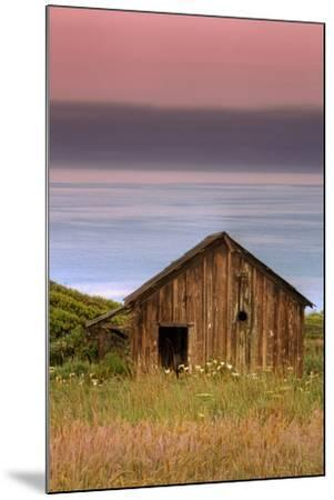 Sea Shack and Watermelon Sky-Vincent James-Mounted Photographic Print