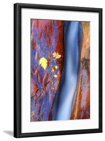 Cobalt Waterflow-Vincent James-Framed Photographic Print