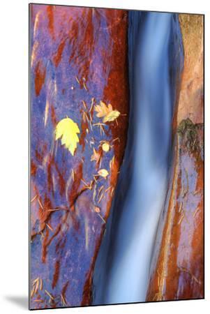 Cobalt Waterflow-Vincent James-Mounted Photographic Print