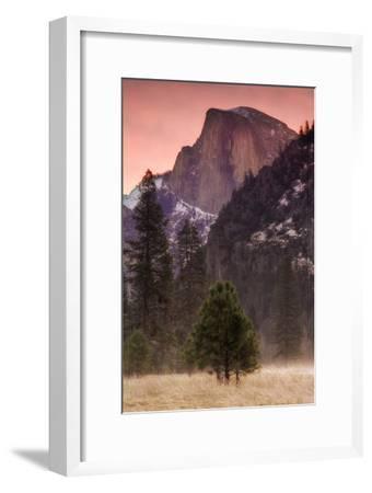 Morning Mist and Half Dome-Vincent James-Framed Photographic Print