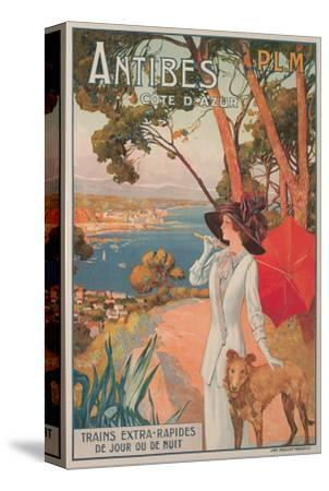 Travel Poster, Antibes--Stretched Canvas Print