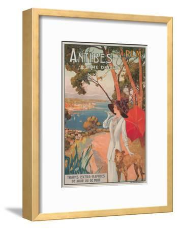 Travel Poster, Antibes--Framed Art Print