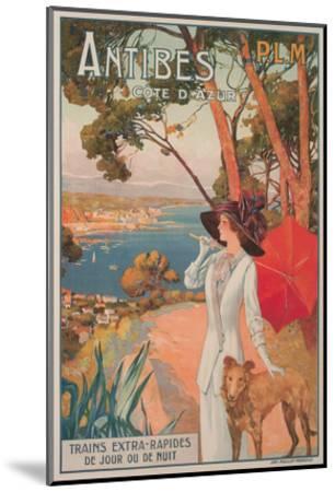 Travel Poster, Antibes--Mounted Art Print