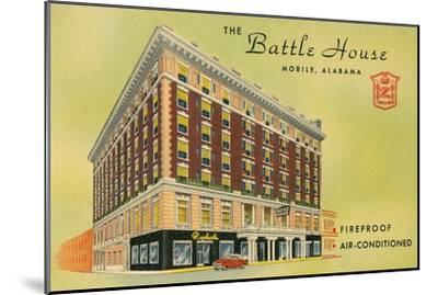 Battle House Hotel, Mobile, Alabama--Mounted Art Print