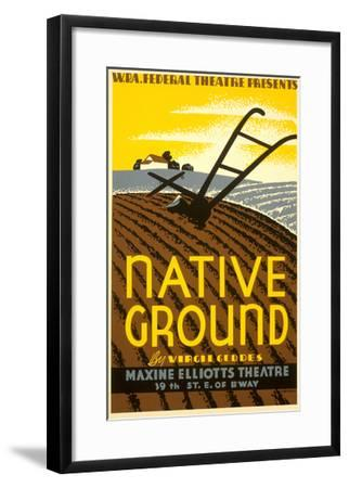 Wpa Poster for Native Ground Play--Framed Art Print