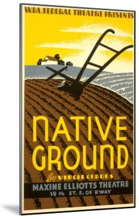 Wpa Poster for Native Ground Play--Mounted Art Print
