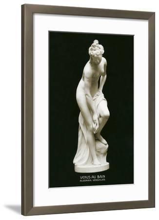 Venus Au Bain Statue--Framed Art Print