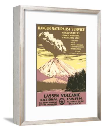 Lassen Volcanic National Park Travel Poster--Framed Art Print