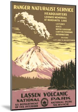 Lassen Volcanic National Park Travel Poster--Mounted Art Print