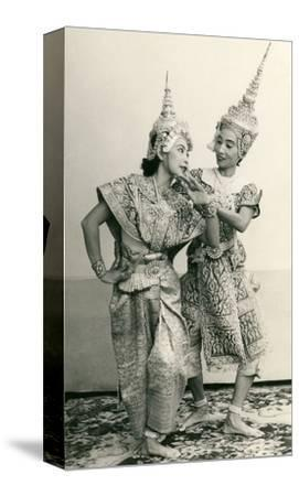 Siamese Temple Dancers--Stretched Canvas Print