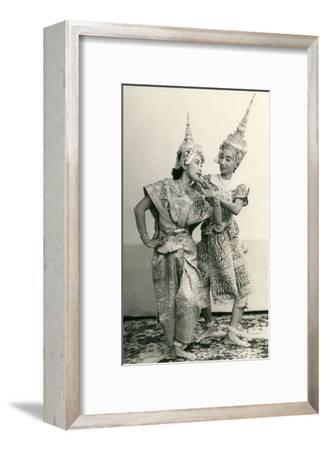 Siamese Temple Dancers--Framed Art Print
