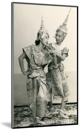 Siamese Temple Dancers--Mounted Art Print
